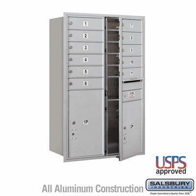 Salsbury 3712D-11AFU 4C Mailboxes 11 Tenant Doors Front Loading
