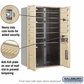 Salsbury 3712D-12SFP 4C Mailboxes 12 Tenant Doors Front Loading