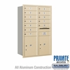 Salsbury 3712D-12SRP 4C Mailboxes 12 Tenant Doors Rear Loading