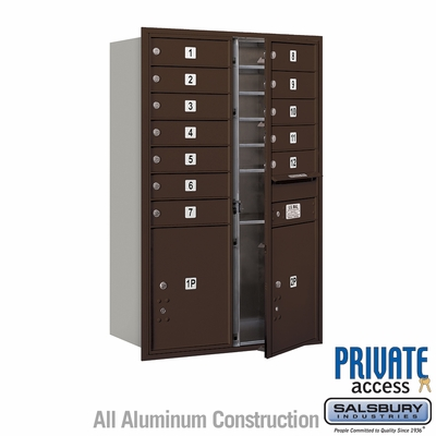 Salsbury 3712D-12ZFP 4C Mailboxes 12 Tenant Doors Front Loading