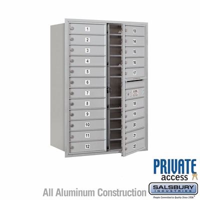 Salsbury 3712D-22AFP 4C Mailboxes 22 Tenant Doors Front Loading