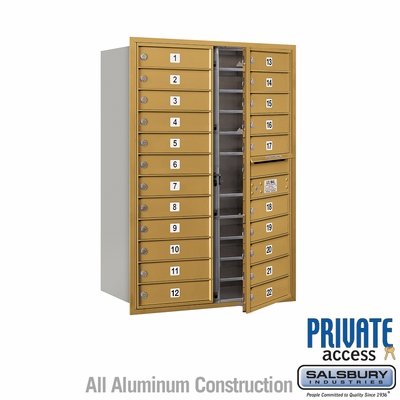 Salsbury 3712D-22GFP 4C Mailboxes 22 Tenant Doors Front Loading