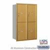 Salsbury 3712D-4PGRU 4C Mailboxes 4 Parcel Lockers Rear Loading
