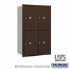 Salsbury 3712D-4PZRU 4C Mailboxes 4 Parcel Lockers Rear Loading
