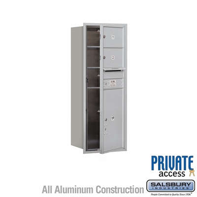 Salsbury 3712S-02AFP 4C Mailboxes 2 Tenant Doors Front Loading