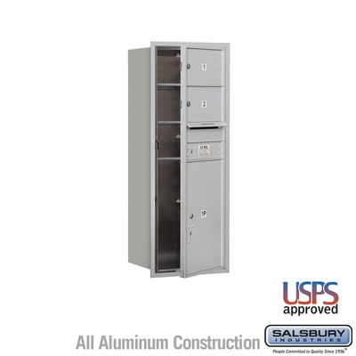 Salsbury 3712S-02AFU 4C Mailboxes 2 Tenant Doors Front Loading