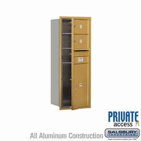 Salsbury 3712S-02GFP 4C Mailboxes 2 Tenant Doors Front Loading