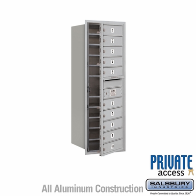 Salsbury 3712S-10AFP 4C Mailboxes 10 Tenant Doors Front Loading
