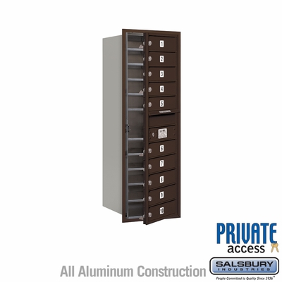 Salsbury 3712S-10ZFP 4C Mailboxes 10 Tenant Doors Front Loading