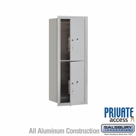Salsbury 3712S-2PAFP 4C Mailboxes 2 Parcel Lockers Front Loading
