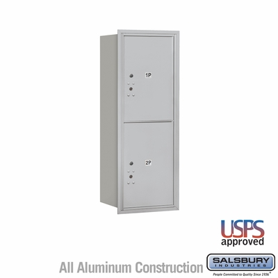 Salsbury 3712S-2PARU 4C Mailboxes 2 Parcel Lockers Rear Loading