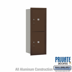 Salsbury 3712S-2PZRP 4C Mailboxes 2 Parcel Lockers Rear Loading