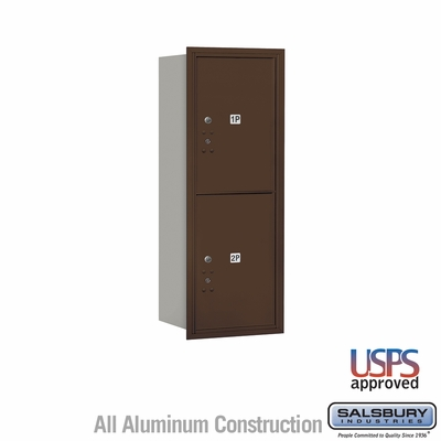 Salsbury 3712S-2PZRU 4C Mailboxes 2 Parcel Lockers Rear Loading