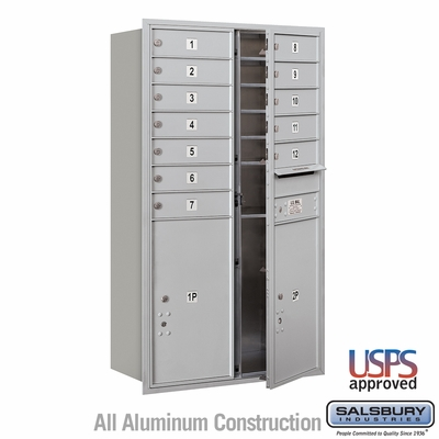 Salsbury 3713D-12AFU 4C Mailboxes 12 Tenant Doors Front Loading