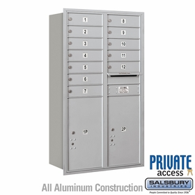 Salsbury 3713D-12ARP 4C Mailboxes 12 Tenant Doors Rear Loading