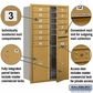 Salsbury 3713D-12GFP 4C Mailboxes 12 Tenant Doors Front Loading
