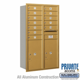 Salsbury 3713D-12GRP 4C Mailboxes 12 Tenant Doors Rear Loading