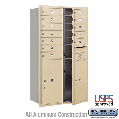 Salsbury 3713D-12SFU 4C Mailboxes 12 Tenant Doors Front Loading