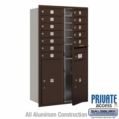 Salsbury 3713D-12ZFP 4C Mailboxes 12 Tenant Doors Front Loading
