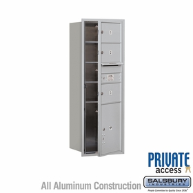 Salsbury 3713S-03AFP 4C Mailboxes 3 Tenant Doors Front Loading
