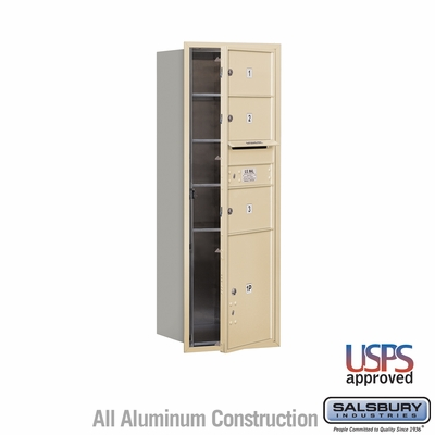 Salsbury 3713S-03SFU 4C Mailboxes 3 Tenant Doors Front Loading
