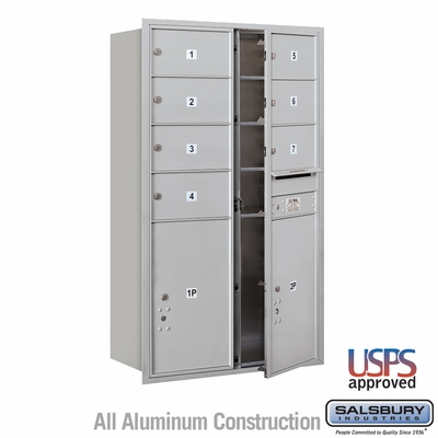 Salsbury 3714D-07AFU 4C Mailboxes 7 Tenant Doors Front Loading