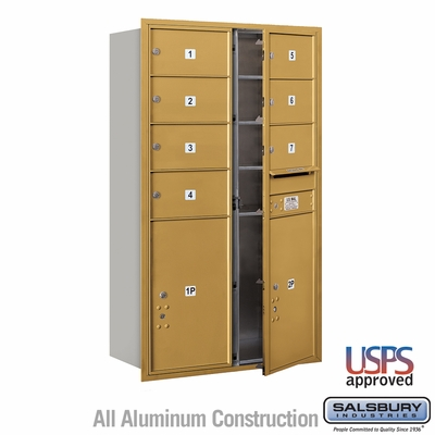 Salsbury 3714D-07GFU 4C Mailboxes 7 Tenant Doors Front Loading