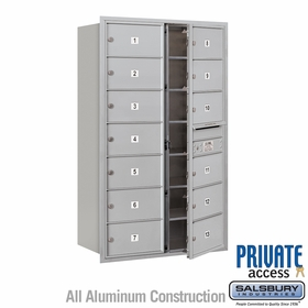 Salsbury 3714D-13AFP 4C Mailboxes 13 Tenant Doors Front Loading