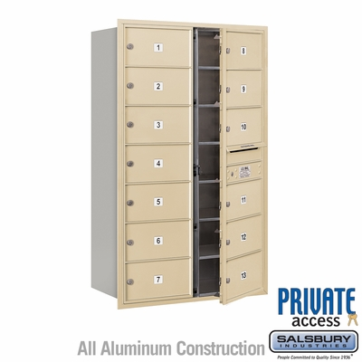 Salsbury 3714D-13SFP 4C Mailboxes 13 Tenant Doors Front Loading