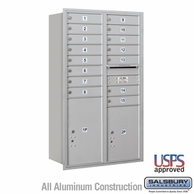 Rear Loading Horizontal Mailboxes 15 to 16 Doors