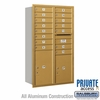 Salsbury 3714D-15GRP 4C Mailboxes 15 Tenant Doors Rear Loading