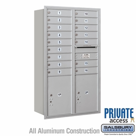 Salsbury 3714D-16ARP 4C Mailboxes 16 Tenant Doors Rear Loading