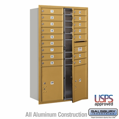 Salsbury 3714D-16GFU 4C Mailboxes 16 Tenant Doors Front Loading