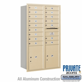 Salsbury 3714D-16SRP 4C Mailboxes 16 Tenant Doors Rear Loading