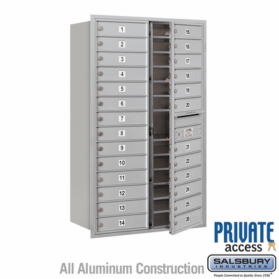 Salsbury 3714D-26AFP 4C Mailboxes 26 Tenant Doors Front Loading