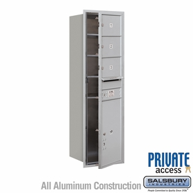 Salsbury 3714S-03AFP 4C Mailboxes 3 Tenant Doors Front Loading