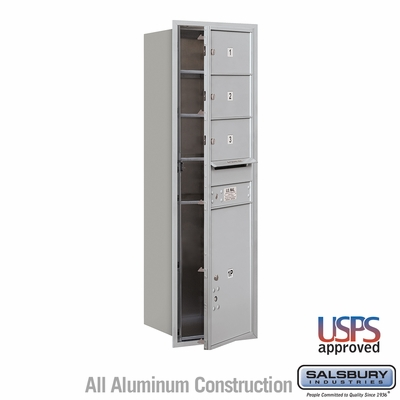 Salsbury 3714S-03AFU 4C Mailboxes 3 Tenant Doors Front Loading