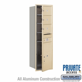 Salsbury 3714S-03SFP 4C Mailboxes 3 Tenant Doors Front Loading