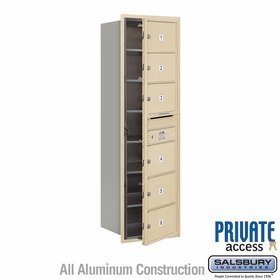 Salsbury 3714S-06SFP 4C Mailboxes 6 Tenant Doors Front Loading