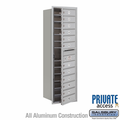 Salsbury 3714S-12AFP 4C Mailboxes 12 Tenant Doors Front Loading