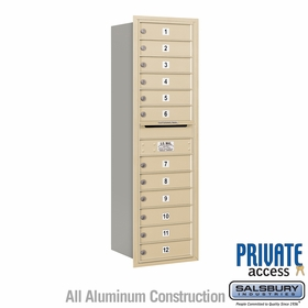 Salsbury 3714S-12SRP 4C Mailboxes 12 Tenant Doors Rear Loading