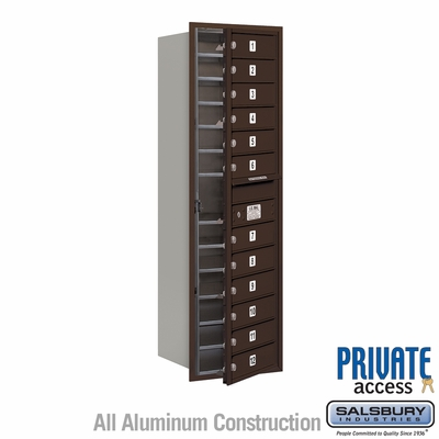 Salsbury 3714S-12ZFP 4C Mailboxes 12 Tenant Doors Front Loading