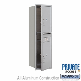 Salsbury 3714S-2PAFP 4C Mailboxes 2 Parcel Lockers Front Loading