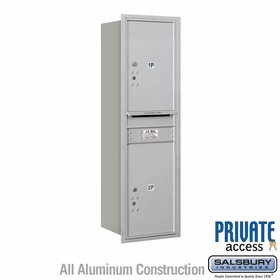 Salsbury 3714S-2PARP 4C Mailboxes 2 Parcel Lockers Rear Loading