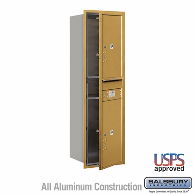 Salsbury 3714S-2PGFU 4C Mailboxes 2 Parcel Lockers Front Loading