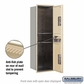 Salsbury 3714S-2PSFP 4C Mailboxes 2 Parcel Lockers Front Loading