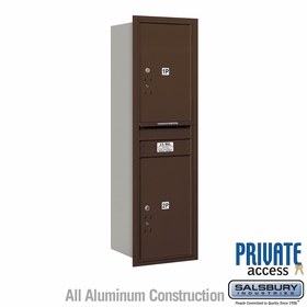 Salsbury 3714S-2PZRP 4C Mailboxes 2 Parcel Lockers Rear Loading