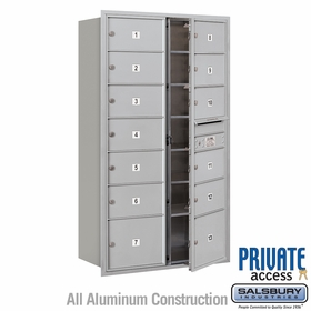 Salsbury 3715D-13AFP 4C Mailboxes 13 Tenant Doors Front Loading