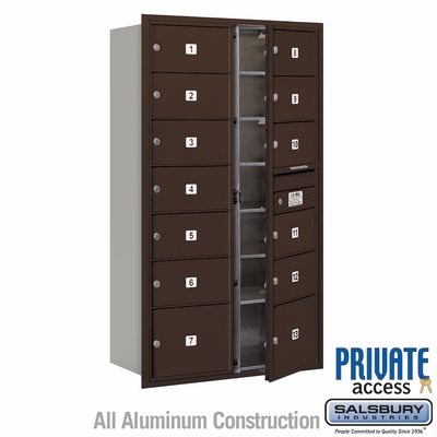 Salsbury 3715D-13ZFP 4C Mailboxes 13 Tenant Doors Front Loading