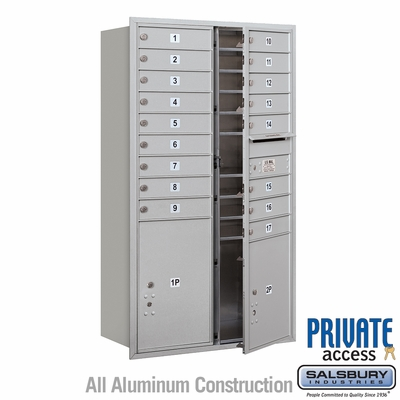 Salsbury 3715D-17AFP 4C Mailboxes 17 Tenant Doors Front Loading
